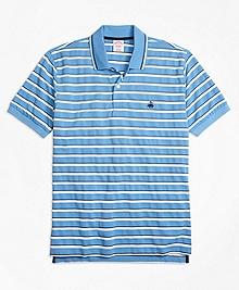 Original Fit Multi-Texture Stripe Polo Shirt