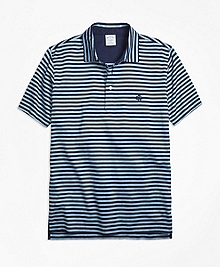 Slim Fit Even Stripe Performance Polo Shirt