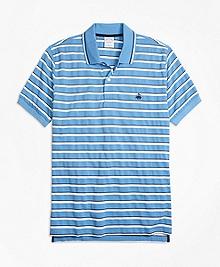 Slim Fit Multi-Texture Stripe Polo Shirt