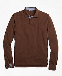 Vintage Wash Long-Sleeve Polo Shirt