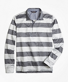 Original Fit Rugby Stripe Long-Sleeve Polo Shirt