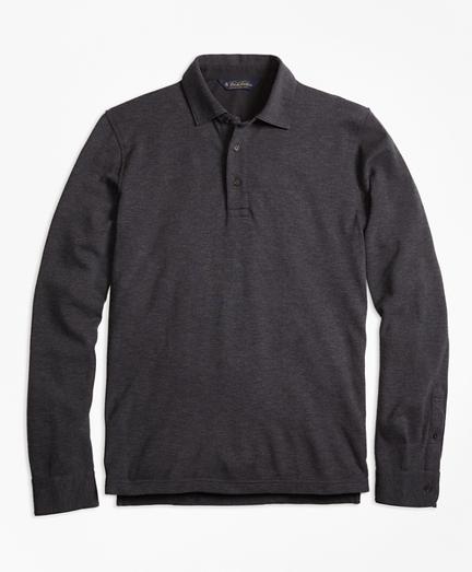 Long-Sleeve Gentleman Polo Shirt