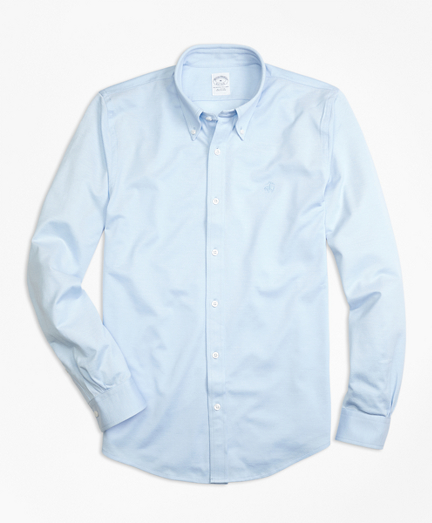 Supima® Cotton Button-Down Knit Shirt