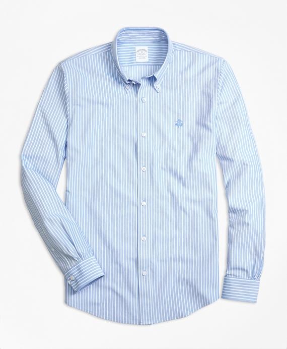 Supima® Cotton Ground Stripe Button-Down Knit Shirt