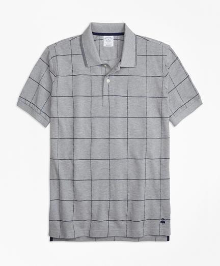 Slim Fit Windowpane Polo Shirt