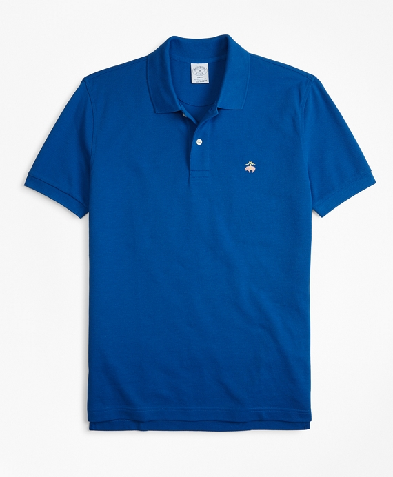 Slim Fit Supima® Cotton Performance Polo Shirt Baleine Blue