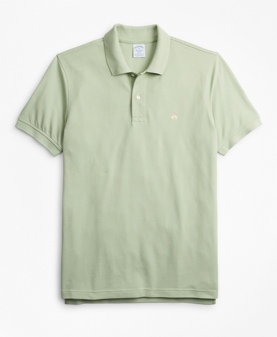 Slim Fit Supima® Cotton Performance Polo Shirt Pale Green