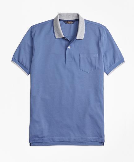 Slim Fit Supima® Cotton Pique Pocket Polo Shirt