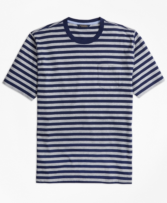 Supima® Cotton Bar Stripe Pocket T-Shirt