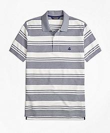 Slim Fit Oxford Pique Beach Stripe Polo Shirt