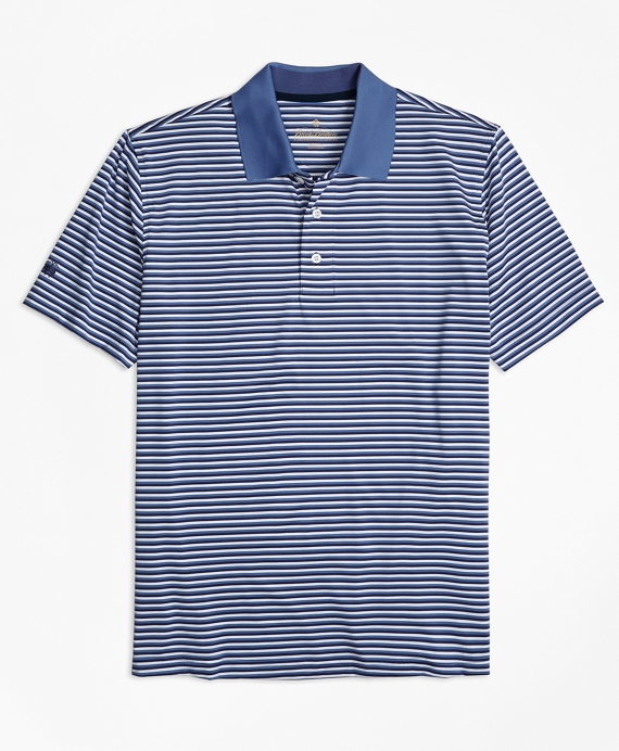 Performance Series Mini-Stripe Polo Shirt