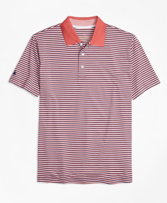Performance Series Mini-Stripe Polo Shirt