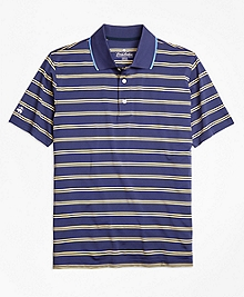 Performance Series Double-Stripe Polo Shirt