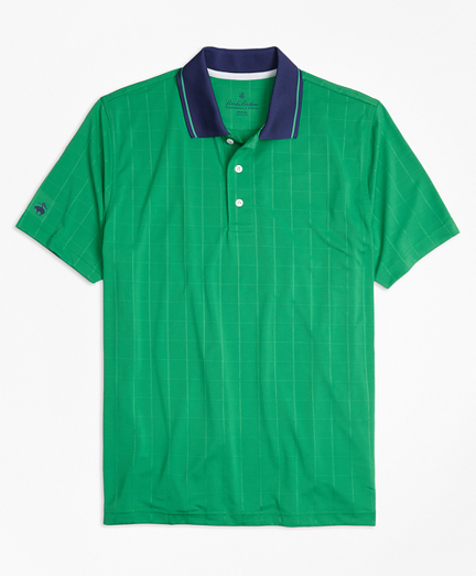 Performance Series Windowpane Jacquard Polo Shirt