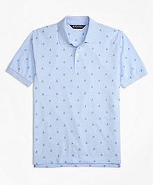 Original Fit Oxford Sailboat Print Polo Shirt