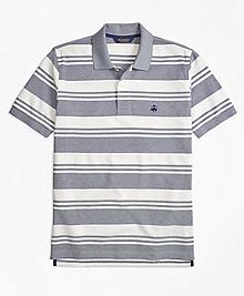 Original Fit Oxford Pique Beach Stripe Polo Shirt
