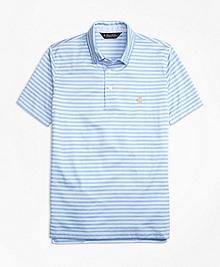 Slim Fit Self-Collar Stripe Polo Shirt