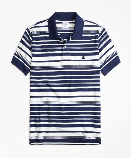 Slim Fit Variegated Stripe Polo Shirt