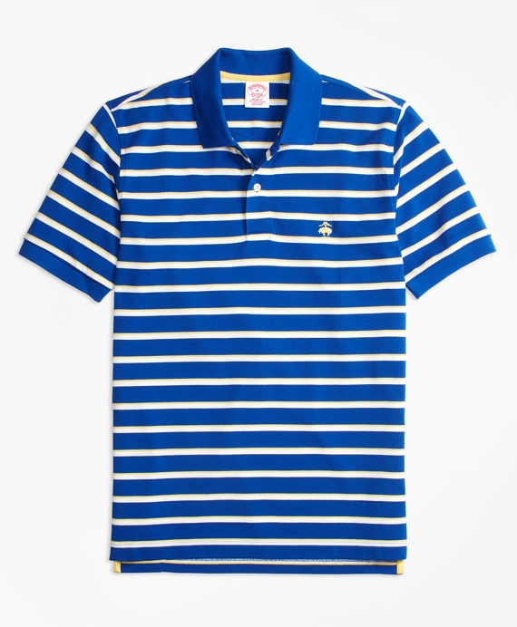 Original Fit Supima® Cotton Pique  Classic Stripe Polo Shirt Navy