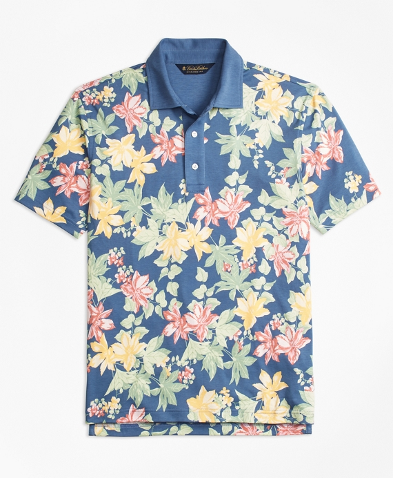 Original Fit Interlock Tropical Print Polo Shirt
