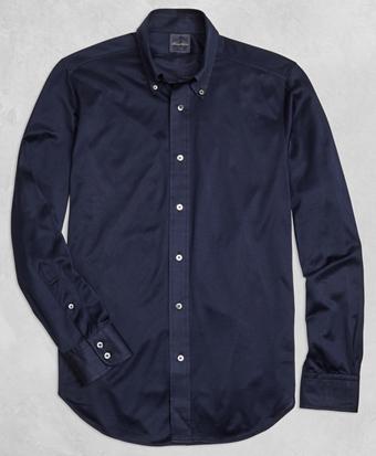 Golden Fleece® Knit Button-Down Shirt