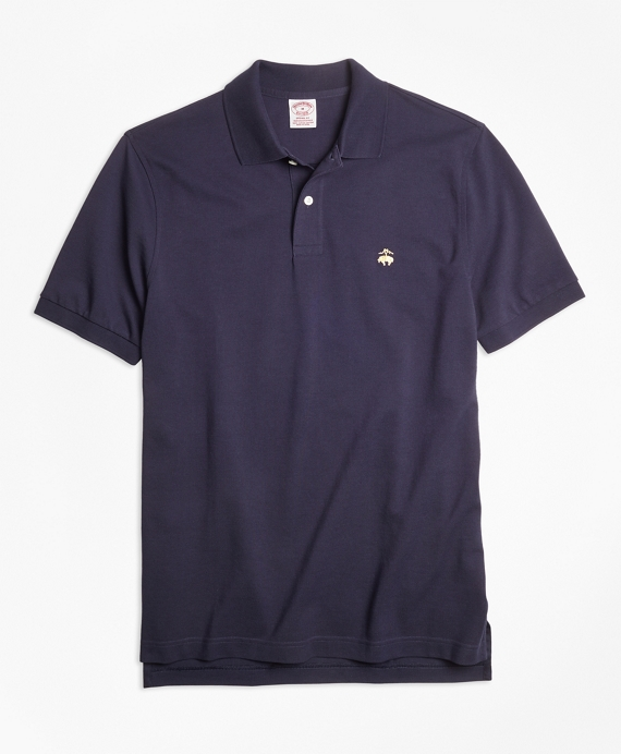 Original Fit Supima® Cotton Performance Polo Shirt-Basic Colors Navy