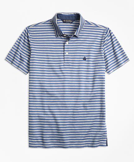 Original Fit  Stripe Self-Collar Polo Shirt