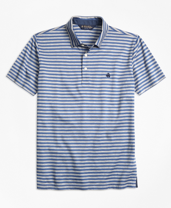 Original Fit  Stripe Self-Collar Polo Shirt
