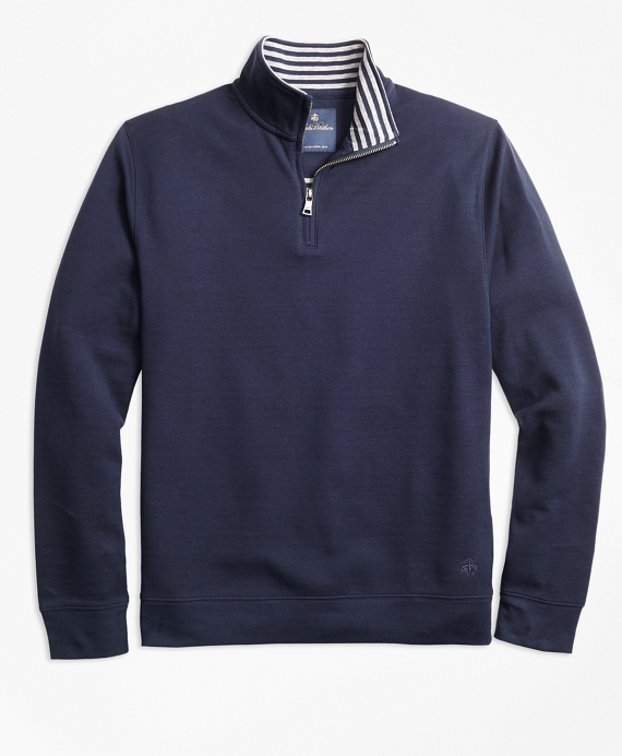 Stripe Half-Zip Navy-Grey