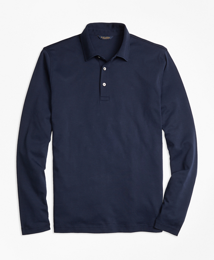Original Fit Supima® Cotton Long-Sleeve Polo Shirt