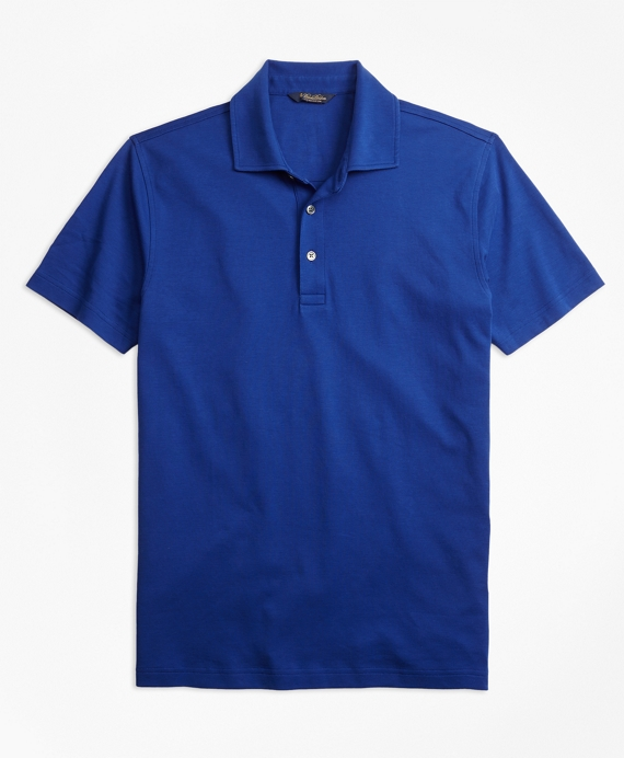 Original Fit Supima® Cotton Interlock Polo Shirt Blue