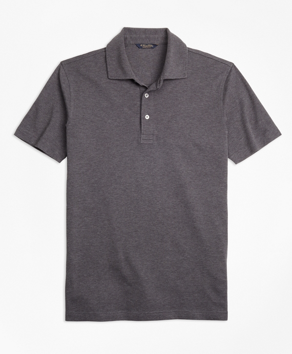 Original Fit Supima® Cotton Interlock Polo Shirt Charcoal