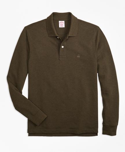 Original Fit Supima® Long-Sleeve Performance Polo Shirt