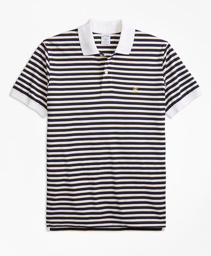 Slim Fit Supima® Oxford Stripe Polo Shirt