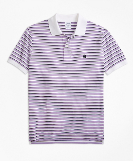 Slim Fit Supima® Oxford Stripe Polo Shirt