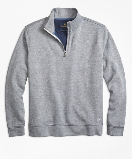 Double-Faced Cotton Half-Zip