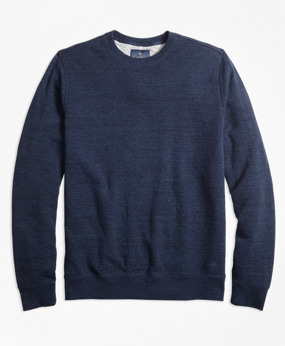 Garment-Washed Crewneck Sweatshirt Navy