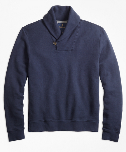 French Terry Shawl Collar Fleece