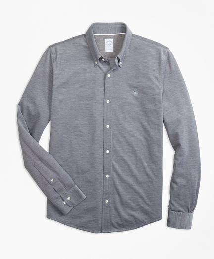 Supima® Button-Down Knit Shirt