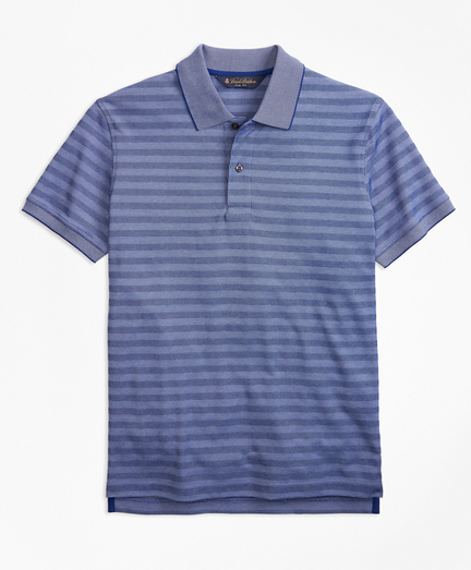Slim Fit Textured Stripe Polo Shirt
