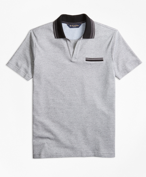 Slim Fit Micro-Bird's-Eye Polo Shirt Black-White