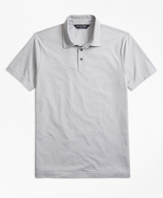 Original Fit Micro-Feeder Stripe Jersey Polo Shirt Grey