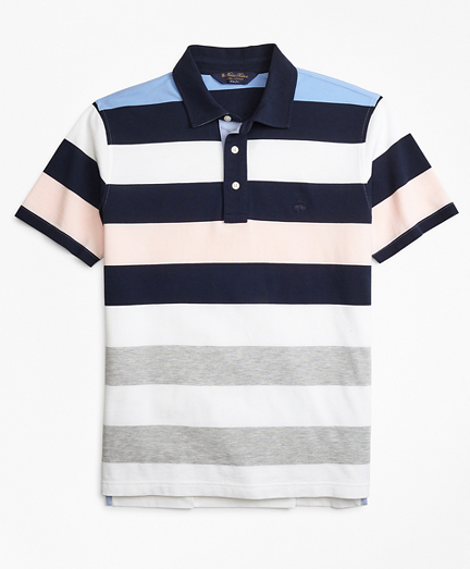 Slim Fit Roadmap Bold Stripe Polo Shirt