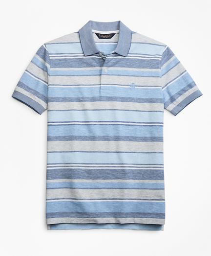Slim Fit Multi-Stripe Polo