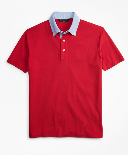 Slim Fit Oxford Collar Polo Shirt