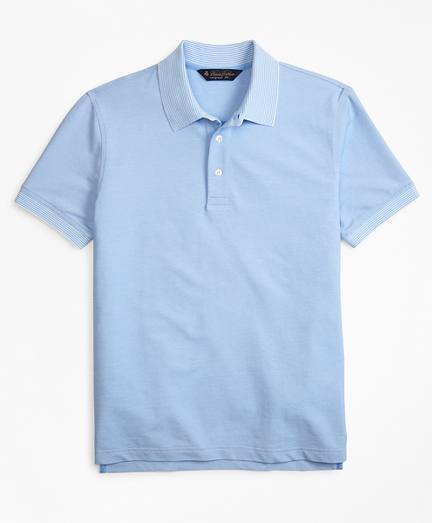 Polos Brooks Brothers turquoise homme