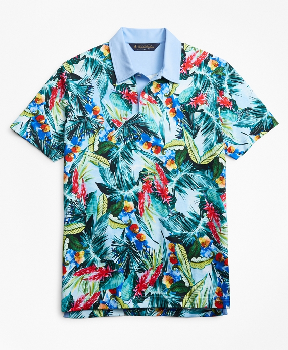 Original Fit Bold Tropical Print Polo Shirt Multi