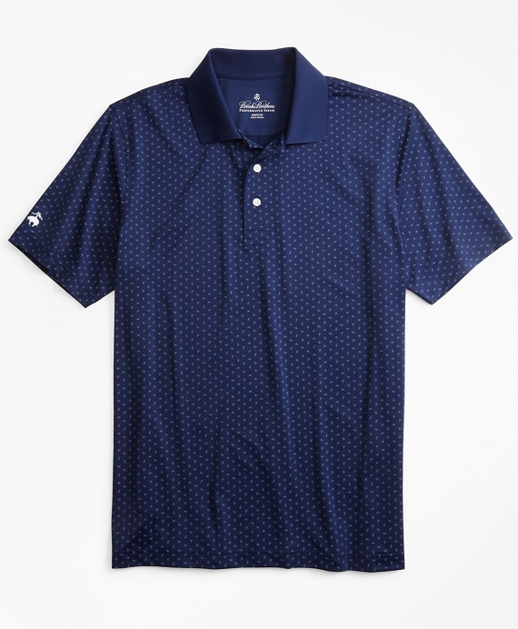 Performance Series Paisley Print Polo Shirt Navy