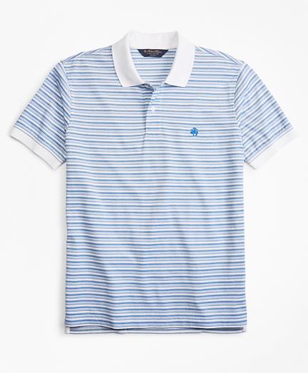 Slim Fit Multi-Stripe Polo Shirt
