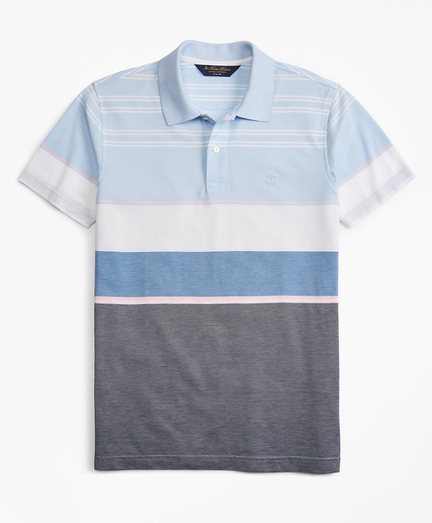 Slim Fit Bold Stripe Polo Shirt